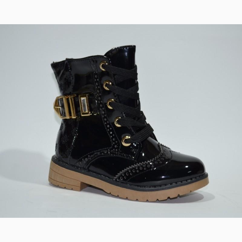 6c3894223 Демисезонные ботинки для девочек Шалунишка арт.300-302 black c 25-30р
