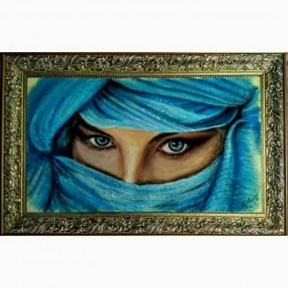 Картина автораГлаза опала-пастель 55х32