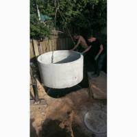 Устройство канализации из бетонных колец Киев