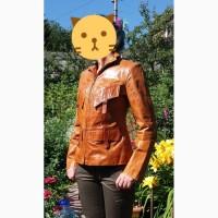 Продам стильную кожаную куртку женскую 42-44 р-р