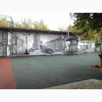 Роспись стен, граффити, оформление фасадов и итерьеров