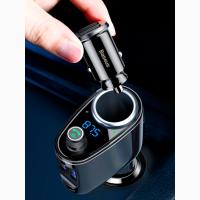 Автомобильное зарядное устройство с FM-трансмиттером 2xUSB Baseus Locomotive Bluetooth