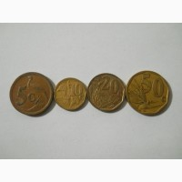 Монеты ЮАР (4 штуки) старый вид