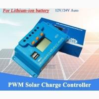 10A PWM (ШИМ) контроллер заряда солнечной панели Snaterm 12/24В с дисплеем