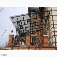 Металлоконструкции под поликарбонат или стекло