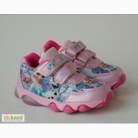 Кроссовки для девочек. с мигалками Мышонок арт.YW-2 розовые.Эльза с 22-27р