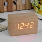 Настольные деревянные Часы Cube светодиодные Будильник в виде куба Настольные часы