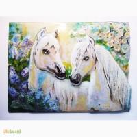 Картина со стекла Лошади Am.pbyu