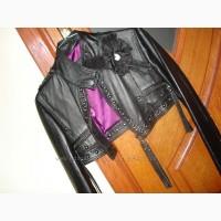 Стильная кожаная куртка итальянской фирмы Rossodisera