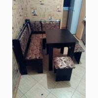 Кухонный уголок Гетьман: кухонный раскладной стол, угловой диванчик, 2 табурета