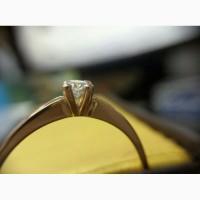 Кольцо с бриллиантом 0. 16 карата