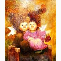 Картина маслом -Переселенцы, живопись