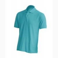 Мужская футболка поло, бирюзовый цвет