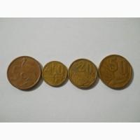 Монеты ЮАР (4 штуки) новый вид