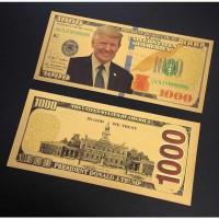 Сувенирная банкнота 1000 долларов, Трамп, в коллекцию