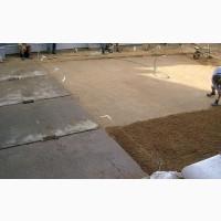 Монтаж дорожных плит, аэродромные плиты