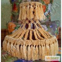 Люстра эксклюзивная плетеная из шнура