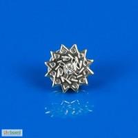 Значок серебряный- звезда Эрцгаммы. Повышает имидж!.Приносит удачу! Диам -1см