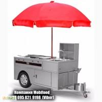 Авто-прицеп для хот догов уличной еды (тележка для хот догов)