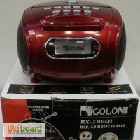 Бумбокс колонка MP3 USB радио Golon RX 186 Red
