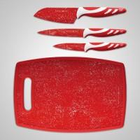 Набор ножей Royalty Line RL-3MR, антибактериальное мраморное покрытие