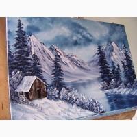 Картина маслом зимова казка 50х70