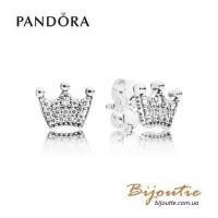 Серьги PANDORA корона ― 297127CZ оригинал Пандора