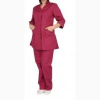 Женский костюм уборщицы бордового цвета