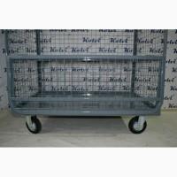 Платформенная бортовая сетчатая тележка четырёхколёсная - ПОД Заказ