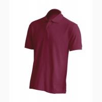 Мужская футболка поло, бордовый цвет