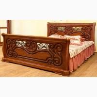 Деревянная кровать Камелия ЮрВит из массива дуба