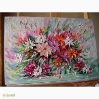 Картина маслом Феєрія квітів40х60
