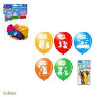 Воздушные шарики Свинка Пеппа, 10 шт