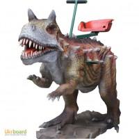 Акция: продажа детских аттракционов динозавры-качалки Карнотавр по супер цене