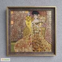 Картина маслом на холсте, копия Климта, Золотая Адель, 40х40 см. На подарок