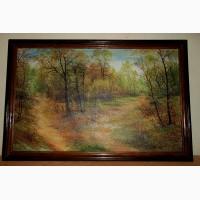 Картина холст масло 35х55 пейзаж в раме (дерево) 2001 г