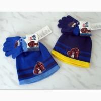 Комплект набор шапка и перчатки, 2-4г, два цвета - НОВЫЕ
