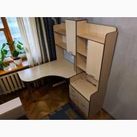 Компьютерный стол СК-10 со шкафом, угловой, б/у
