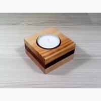 Подсвечник деревянный слоеный