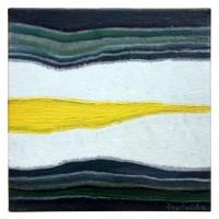 Картина маслом на холсте Камень 15х15 см Абстракция