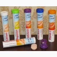 Поливитамины Шипучие таблетки Das Gesunde Plus 20 шт без сахара Витаминые растворимые т