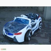 Детский электромобиль BMW i8 VISION, дверцы открываются, синий