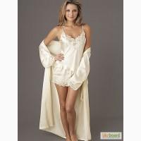 Женская пижама шелковая SilkLine шорты и майка