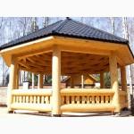 Деревянные беседки для дачи купить в Харькове