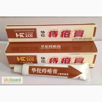 Китайская Мазь Huatuo (Хуато) аналог безорнила для лечения внешних геморроидальных узлов