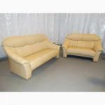 Продам б/у кожаную мебель