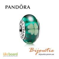 Оригинал подвеска-шарм PANDORA зеленый клевер 790927