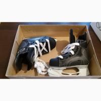 Новые хоккейные коньки EASTON для мальчика