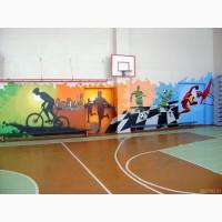 Граффити оформление. Роспись стен. Интерьер и Дизайн. Реклама