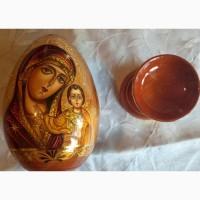 Икона Божьей Матери Казанская пасхальное яйцо